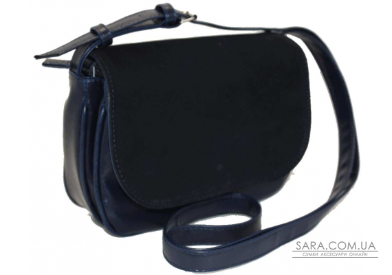 038 сумка замшевая синяя Lucherino