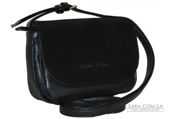 038 сумка замшевая черная Lucherino