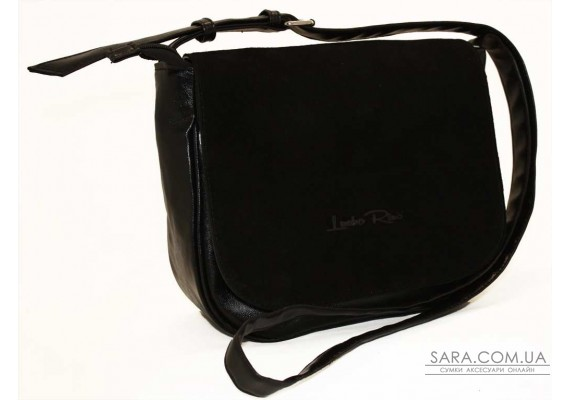 179 сумка замшевая черная Lucherino