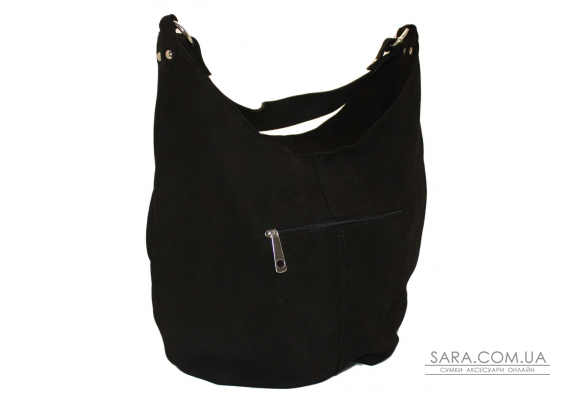 383 сумка замш черный Lucherino