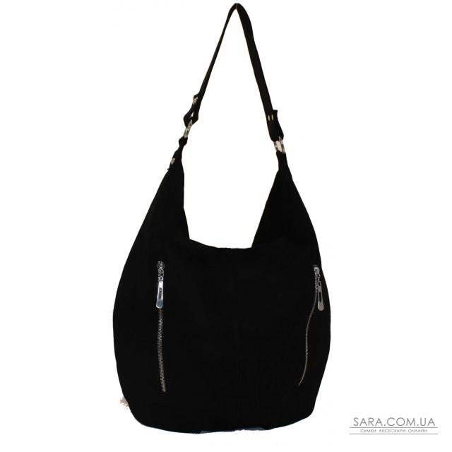 Купити 383 сумка замш чорний Lucherino дешево. Україна