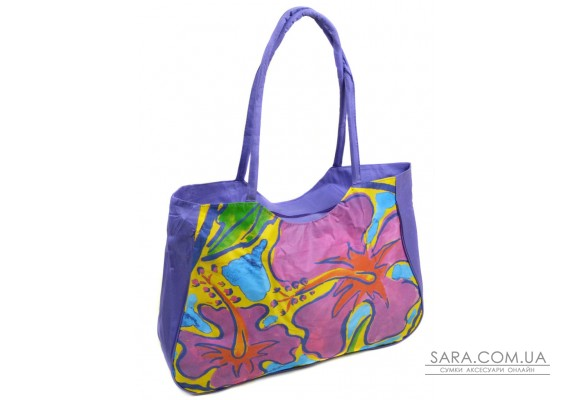 Сумка Жіноча Пляжна текстиль Podium /1330 purple Podium