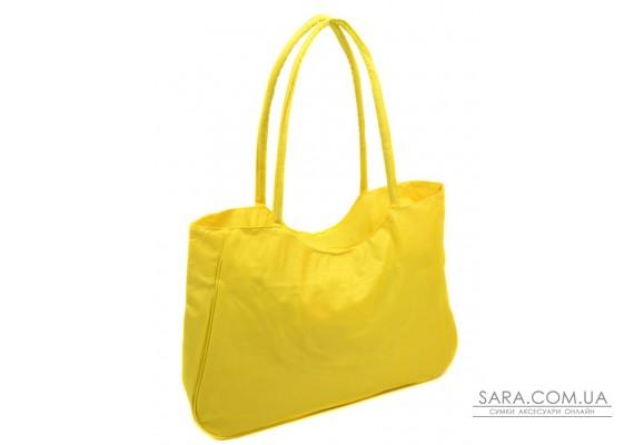 Сумка Жіноча Пляжна текстиль Podium /1328 yellow Podium