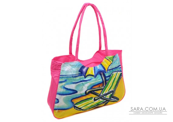 Сумка Жіноча Пляжна текстиль Podium /1328 pink Podium