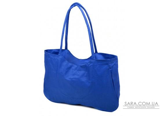 Сумка Жіноча Пляжна текстиль Podium /1328 blue Podium