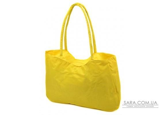 Сумка Жіноча Пляжна текстиль Podium /1327 yellow Podium