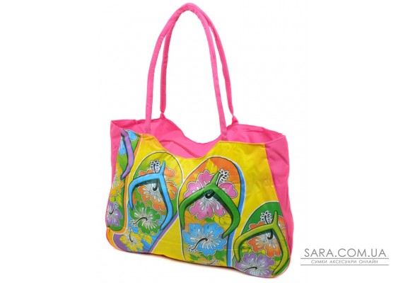 Сумка Жіноча Пляжна текстиль Podium /1327 pink Podium