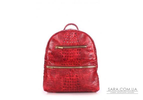 Рюкзак жіночий шкіряний POOLPARTY Mini (pool-mini-bckpck-leather-croco-red)