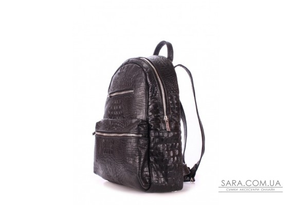 Рюкзак жіночий шкіряний POOLPARTY Mini (pool-mini-bckpck-leather-croco-black)