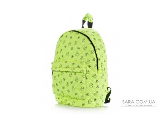Рюкзак стьобаний з качечками POOLPARTY (pool-backpack-theone-salad-ducks)