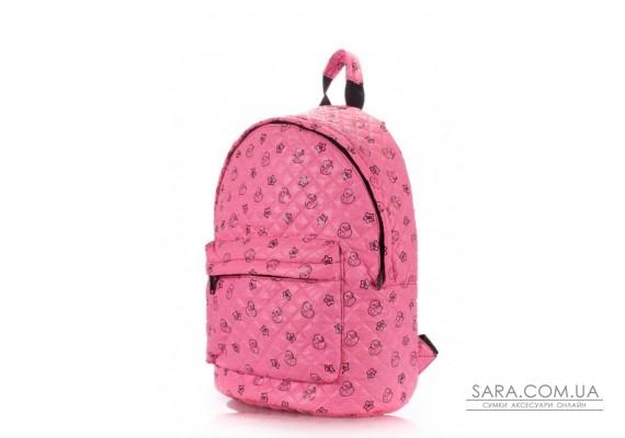 Рюкзак стьобаний з качечками POOLPARTY (pool-backpack-theone-pink-ducks)