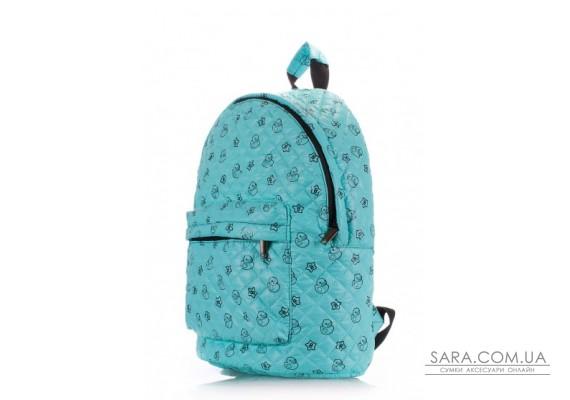 Рюкзак стьобаний з качечками POOLPARTY (pool-backpack-theone-blue-ducks)