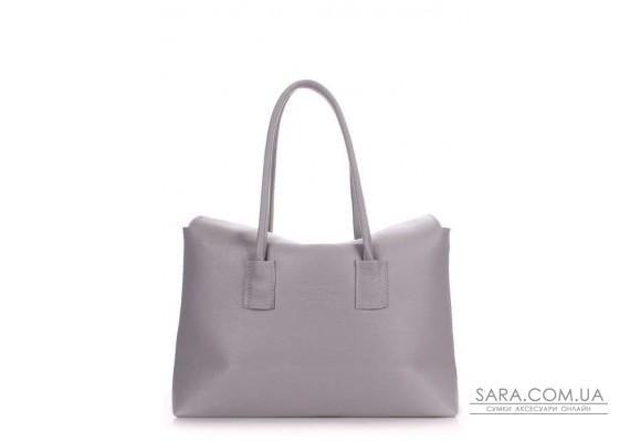 Шкіряна сумка POOLPARTY Sense (pool-sense-grey)