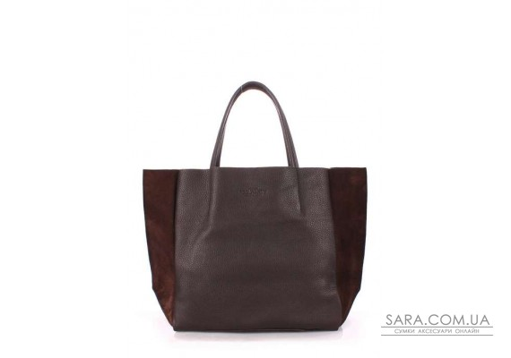 Шкіряна сумка POOLPARTY Soho (pool-soho-brown-velour)