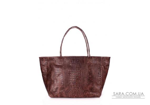 Шкіряна сумка POOLPARTY Desire (pool-poolparty-desire-croco-brown)