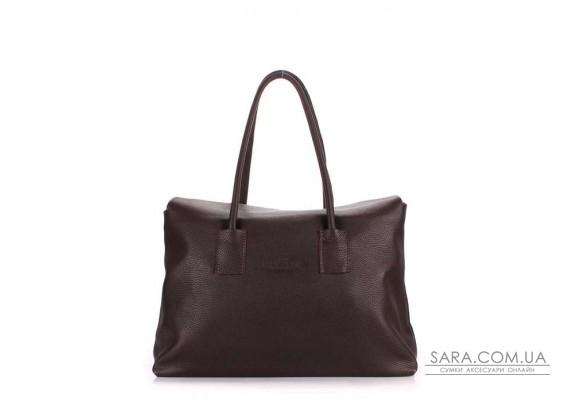 Шкіряна сумка POOLPARTY Sense (pool-sense-brown)