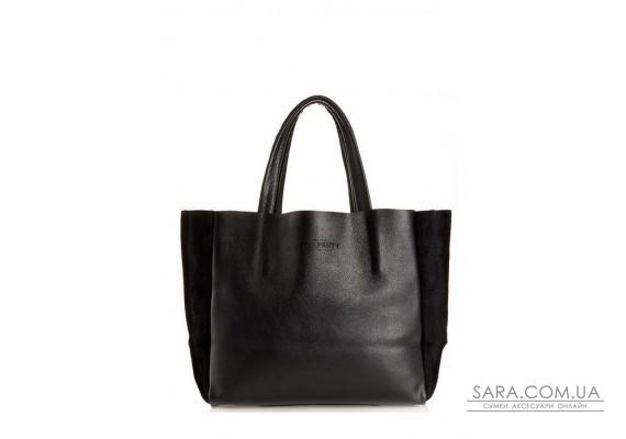 Шкіряна сумка POOLPARTY Soho (pool-poolparty-soho-black-velour)