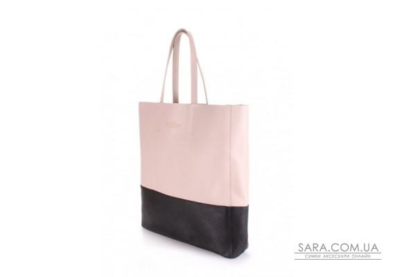 Шкіряна сумка POOLPARTY City (pool-city-beige-black)