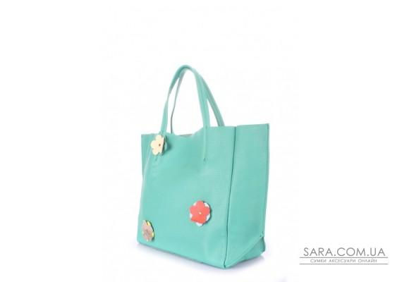 Шкіряна сумка POOLPARTY Soho Flower