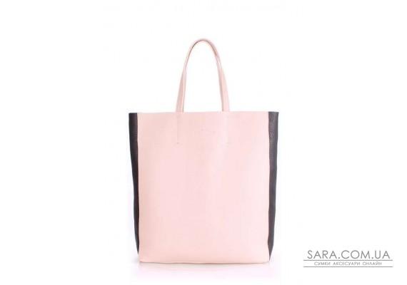 Шкіряна сумка POOLPARTY City (pool-city2-beige-black)