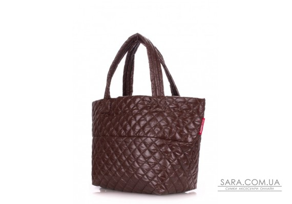 Стьобана сумка POOLPARTY Broadway (pool-broadway-quilted-brown)