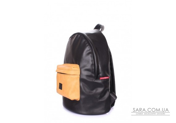 Рюкзак жіночий POOLPARTY (pool-backpack-pu-black-orange)