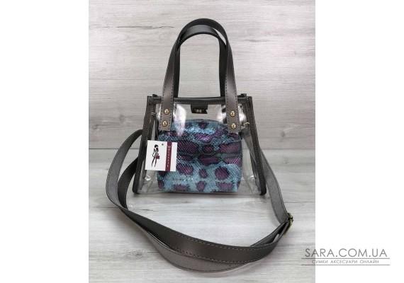 Маленька силіконова сумка Aster синя WeLassie