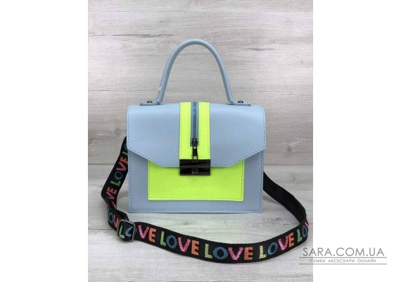 Женская сумка Daisy голубая с желтым WeLassie