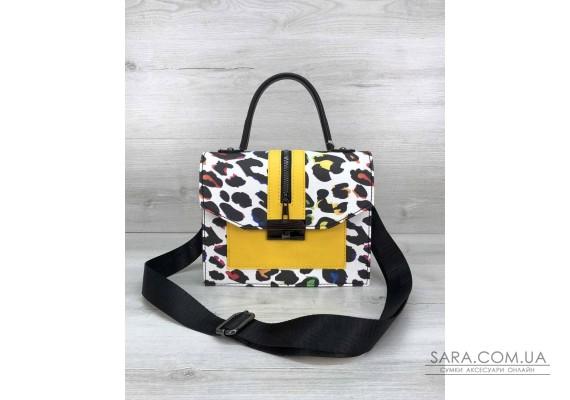 Женская сумка Daisy черная с желтым WeLassie