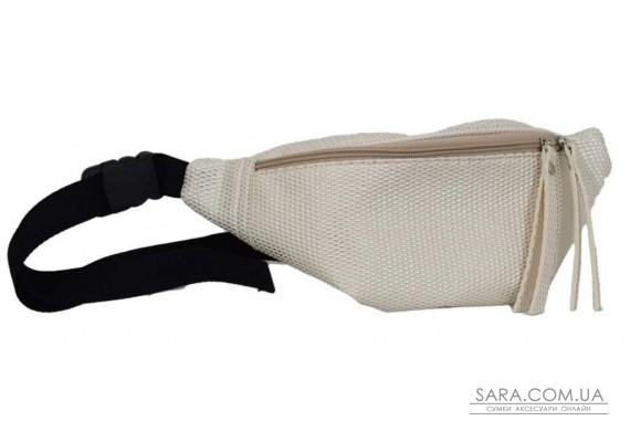 595 поясная сумка беж тиснение Lucherino