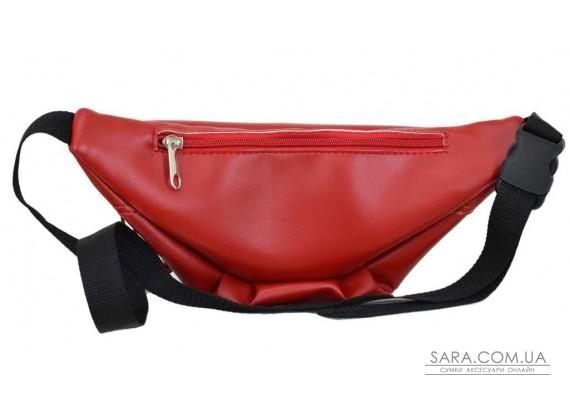 595 поясная сумка красная Lucherino