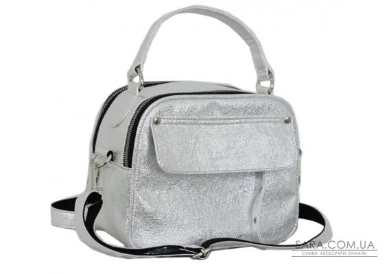 654 сумка срібло Lucherino