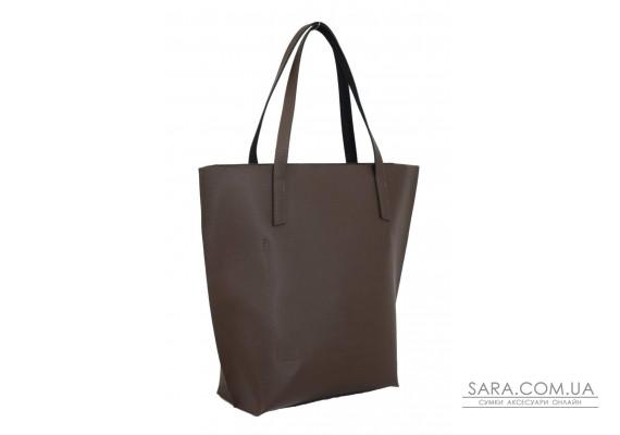 641 сумка кожа шоколад Lucherino