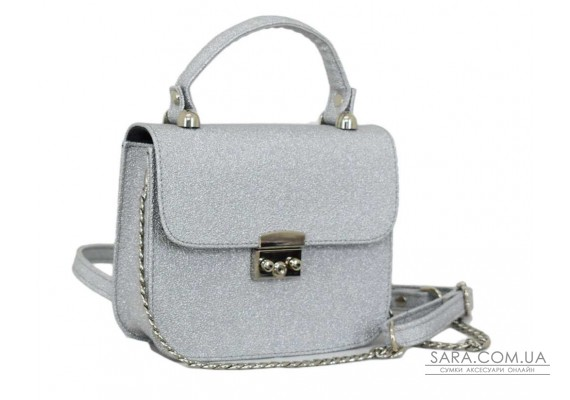 623 сумка срібло Lucherino