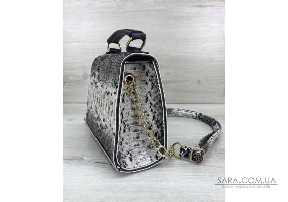 Жіноча сумка «Sam» чорно-біла WeLassie