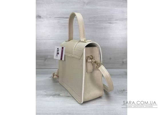 Жіноча сумка «Обі» бежева WeLassie