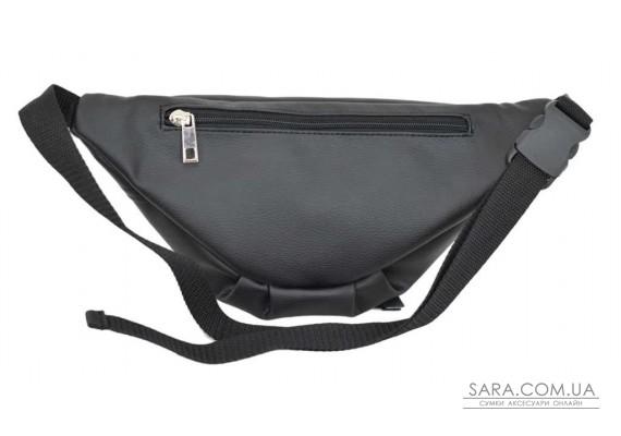 595 поясна сумка чорна Lucherino