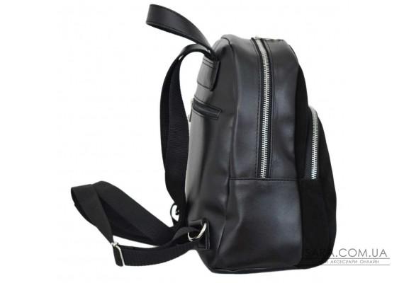 652 рюкзак замш чорна Lucherino