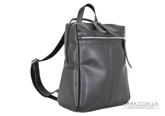 656 сумка-рюкзак чорний шоколад Lucherino