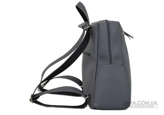 656 сумка-рюкзак сірий Lucherino