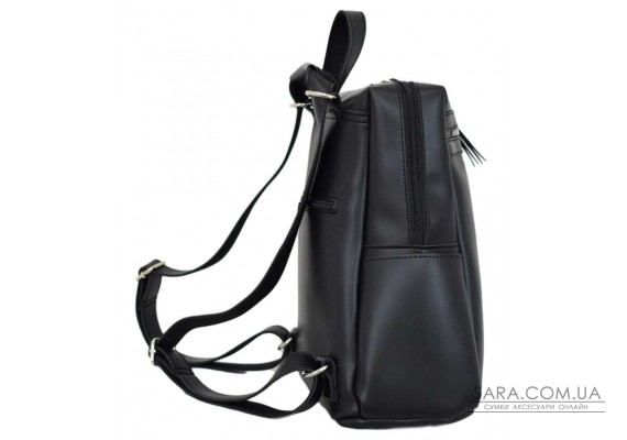 656 сумка-рюкзак чорна г Lucherino