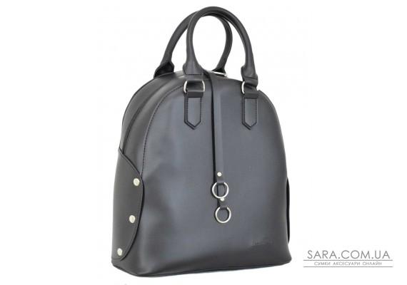 657 сумка-рюкзак чорний г Lucherino