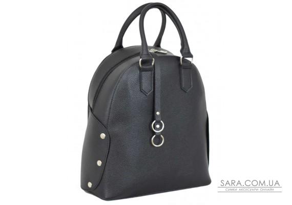 657 сумка-рюкзак чорний Lucherino