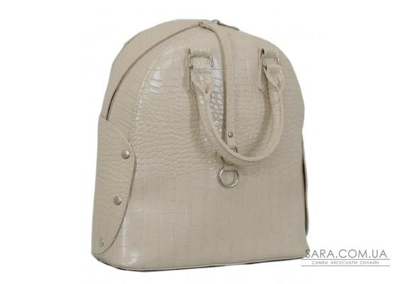 657 сумка-рюкзак крокодил беж Lucherino