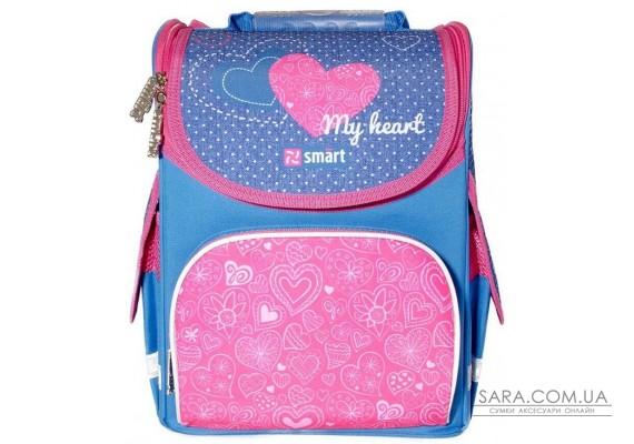 Рюкзак шкільний каркасний SMART PG-11 My heart 558065