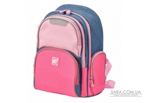 Шкільний рюкзак YES S-30 Juno Girls style рожевий / блакитний 558444