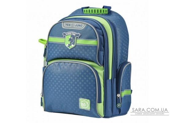 Шкільний рюкзак YES S-30 Juno School time синій / зелений 558011