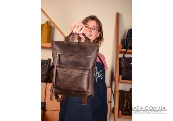 Рюкзак шкіряний Boston Brown 932051 Babak