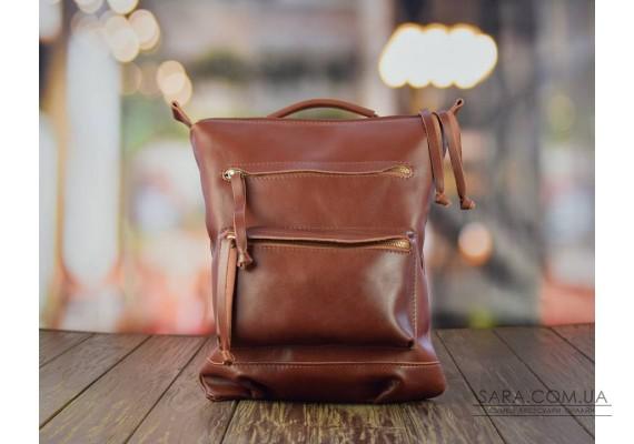 Рюкзак кожаный Boston Brandy 932088 Babak