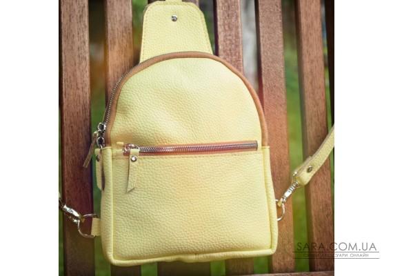Сумка-рюкзак шкіряна Sling-Bag Лимоний 924015 Babak